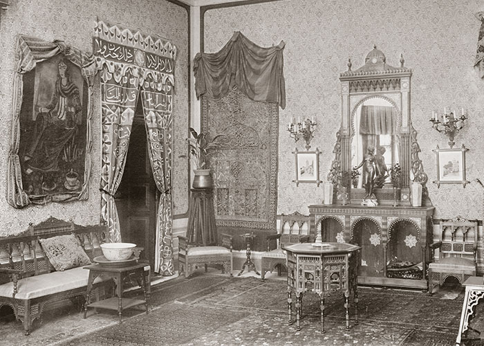 Mit arabischem Flair empfing Max von Oppenheim Besucher in seiner Kairoer Villa.